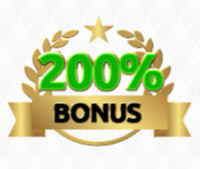 200 procent welcome bonus